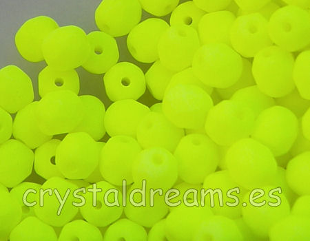 Facetadas 6mm YELLOW NEON MATE