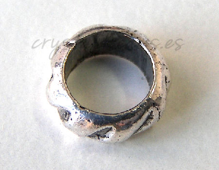 Cuenta de metal - Lined Ring - 8mm- Agujero: 6mm